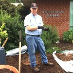Mark planting at the Ag Bldg