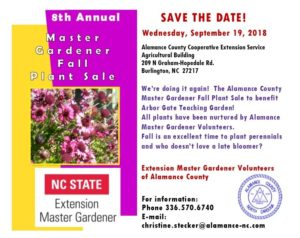 Cover photo for Master Gardener Volunteer Plant Sale 2018