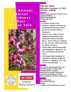 Cover photo for Master Gardener Volunteer Plant Sale 2018