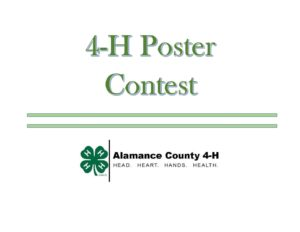 Cover photo for 4-H Poster Contest Now Live!