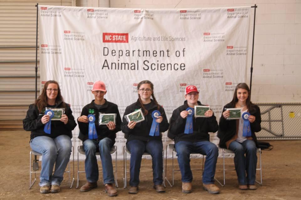 4-H Livestock Skillathon First Place Team Photo