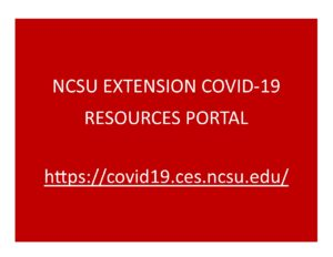 Cover photo for Extension COVID-19 Resources Portal
