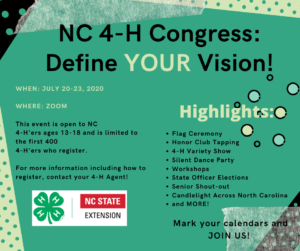 Cover photo for Attend 4-H Congress Online This Year!