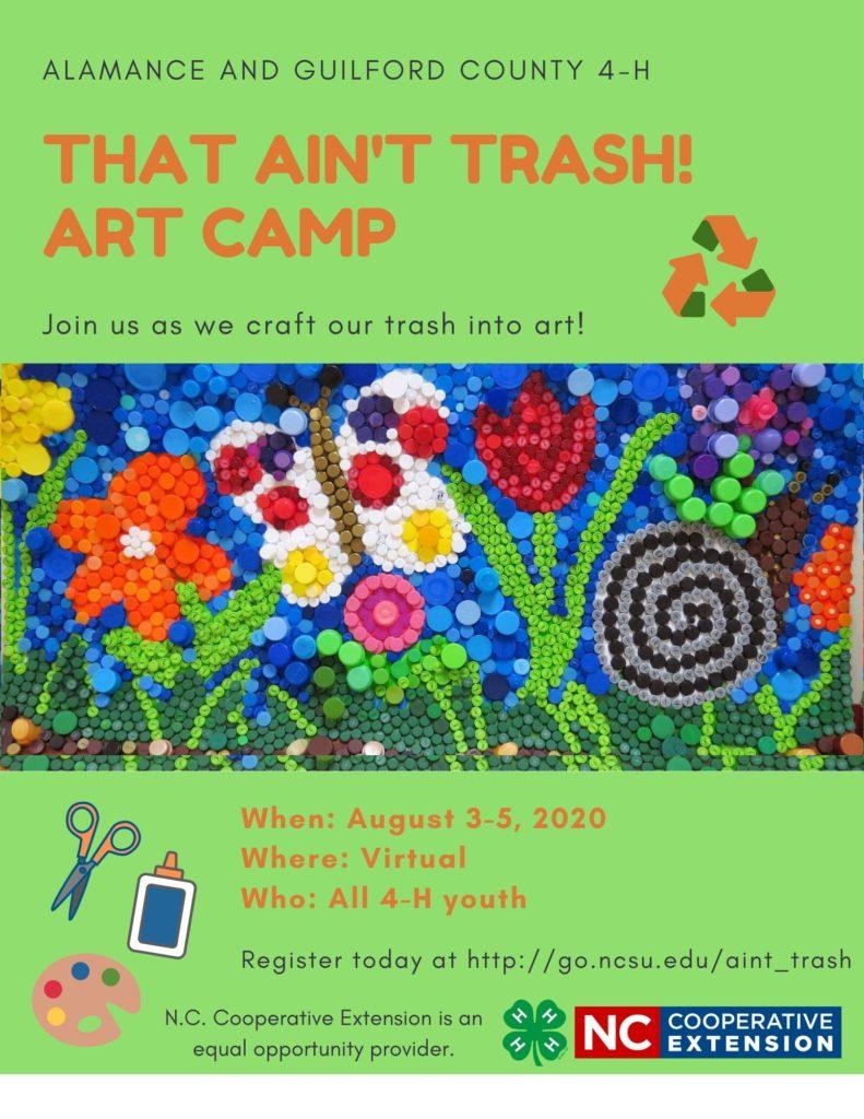 That Ain't Trash Art Camp program flyer