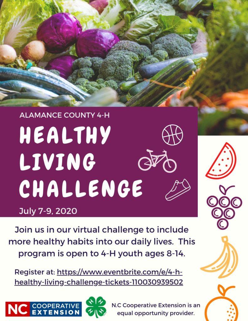 Healthy Living Challenge Flyer