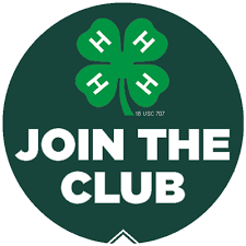 "4-H Logo with clover and ""Join the Club"""