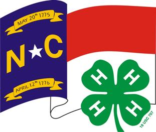 NC flag and 4-H clover