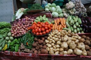 variety vegetables in boxes